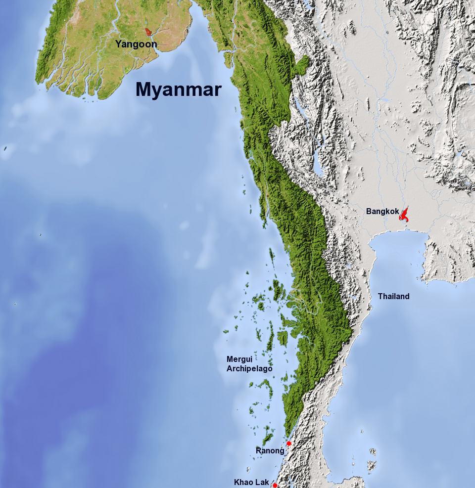 How To Get To The Mergui Archipelago Mergui Archipelago - Where is myanmar
