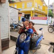 Kaw Thaung Kids on Motorbike