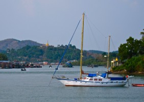 Mergui Sail Boat in Kaw Thaung